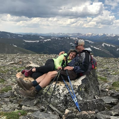 Wynne Maggi hiking with husband Steve Byers