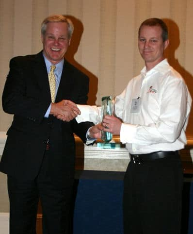 Steve Byers accepting RESNET Innovation Award for DASH in 2008