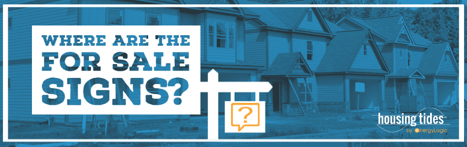 Where Are the For Sale Signs? Housing Tides Blog Header Image