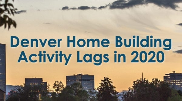 Denver Home Building Activity Lags in 2020, as compared to 2019