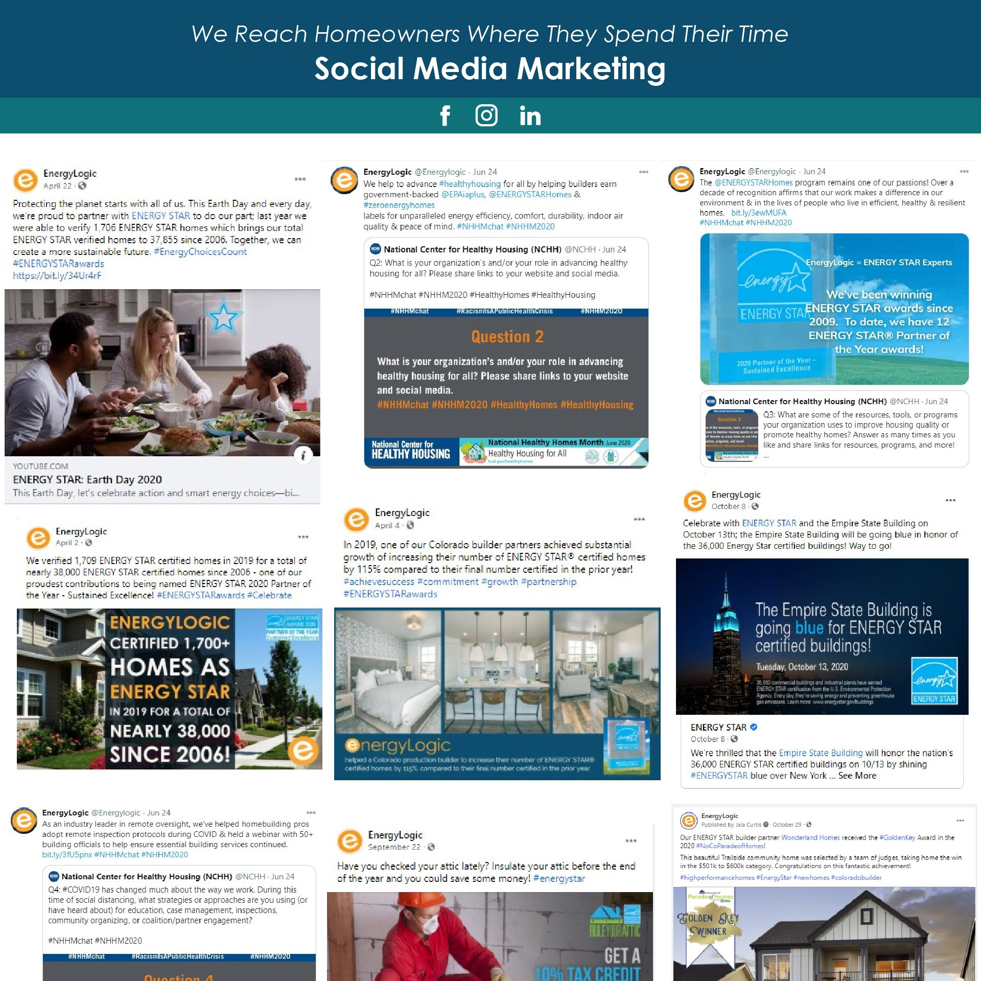 Indoor airPLUS Awards 2020 EnergyLogic's Social Media Focus and Examples