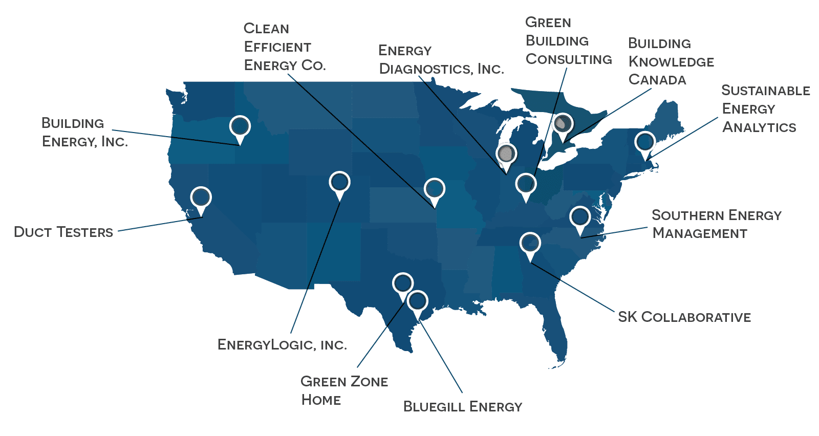 EPX Member Locations across U.S.